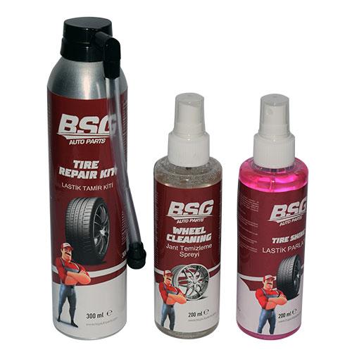 BSG 99-999-116 Lastik Bakım Seti (Lastik Tamir Kiti,Lastik Parlatıcı,Jant Temizleme)