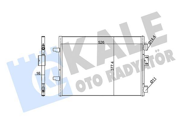 KALE 342835 Klima Radyatörü