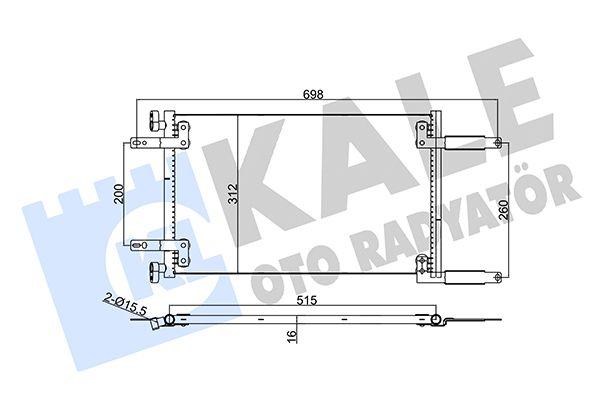 KALE 342850 Klima Radyatörü