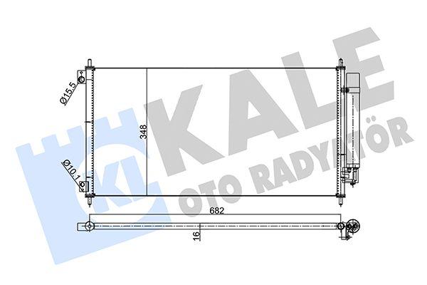 KALE 342955 Klima Radyatörü