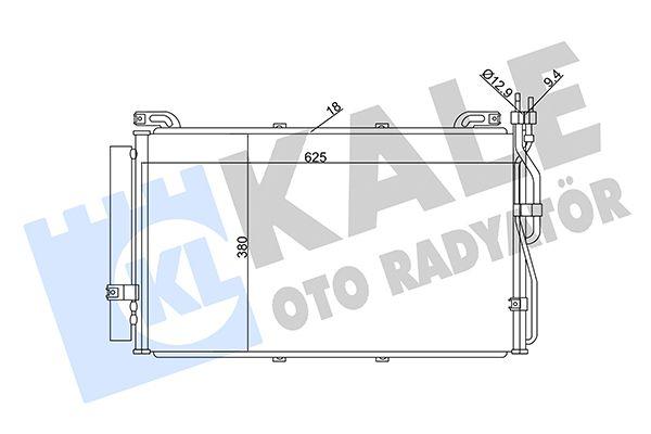 KALE 342995 Klima Radyatörü