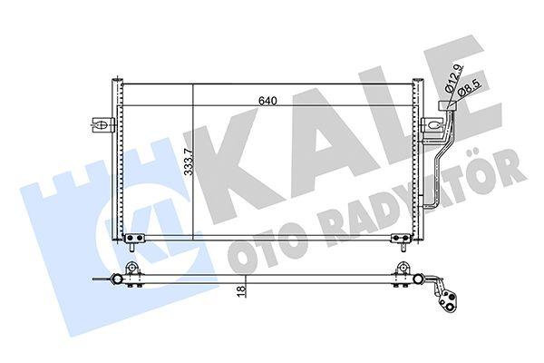 KALE 343155 Klima Radyatörü