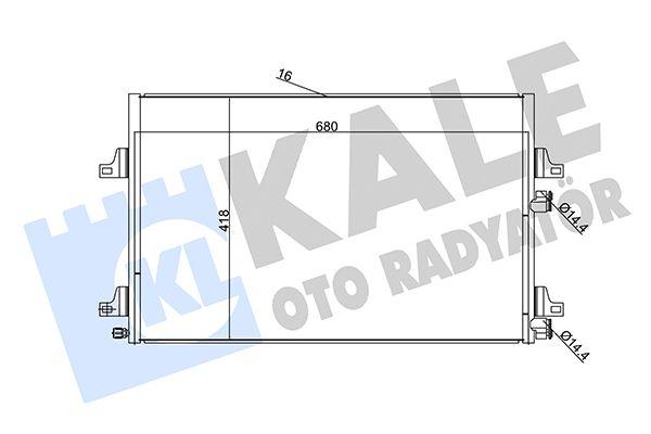 KALE 345290 Klima Radyatörü