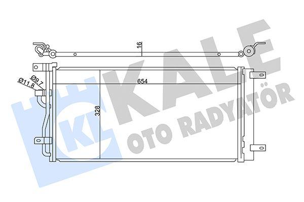 KALE 345325 Klima Radyatörü