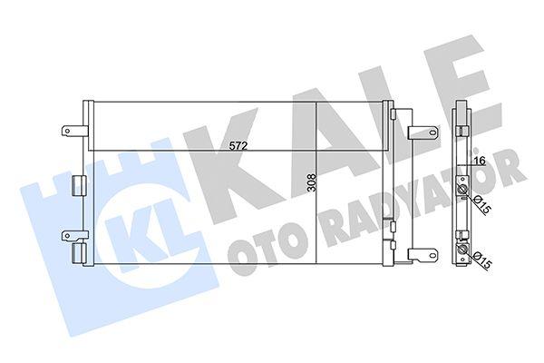 KALE 345355 Klima Radyatörü