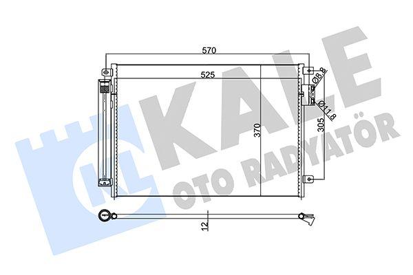 KALE 345360 Klima Radyatörü