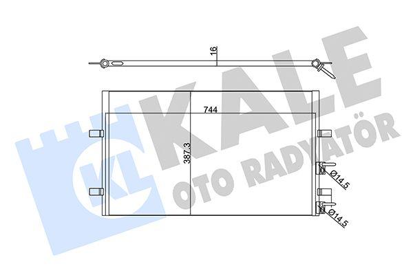 KALE 345390 Klima Radyatörü