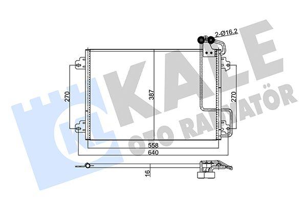 KALE 345550 Klima Radyatörü