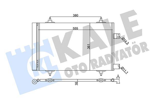 KALE 345665 Klima Radyatörü