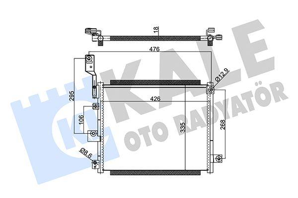 KALE 350615 Klima Radyatörü