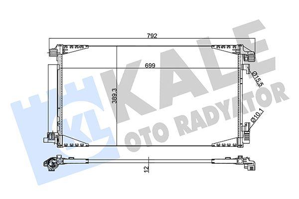 KALE 353865 Klima Radyatörü