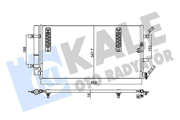 KALE 375800 Klima Radyatörü