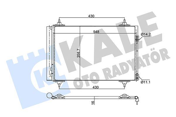 KALE 377200 Klima Radyatörü