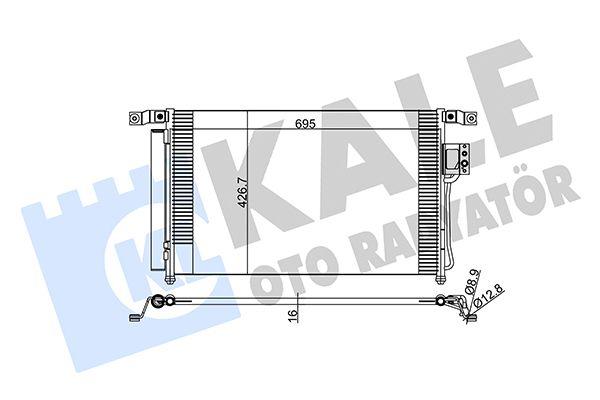 KALE 379300 Klima Radyatörü