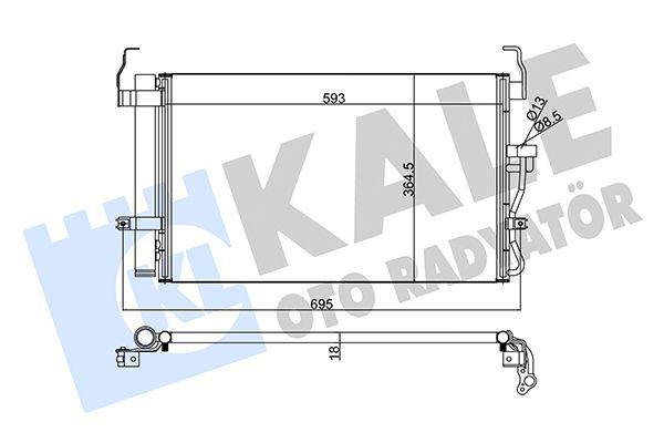 KALE 379400 Klima Radyatörü