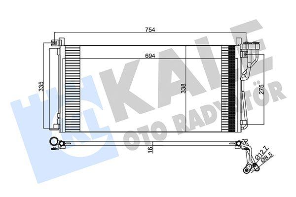 KALE 379800 Klima Radyatörü