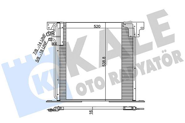 KALE 381200 Klima Radyatörü