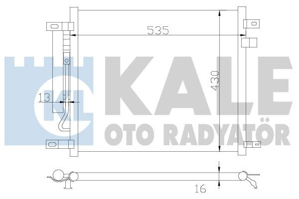 KALE 385200 Klima Radyatörü