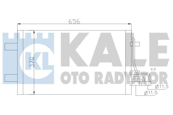 KALE 386100 Klima Radyatörü