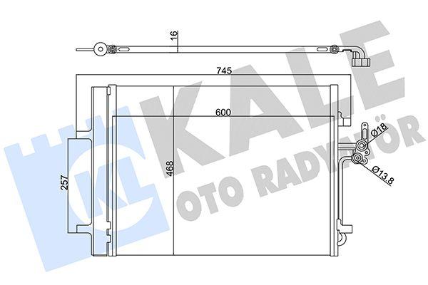 KALE 386200 Klima Radyatörü