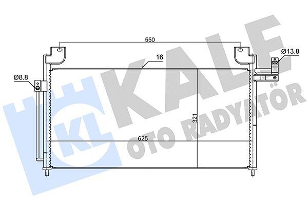 KALE 387700 Klima Radyatörü