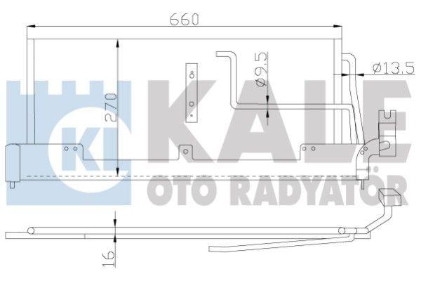 KALE 388800 Klima Radyatörü