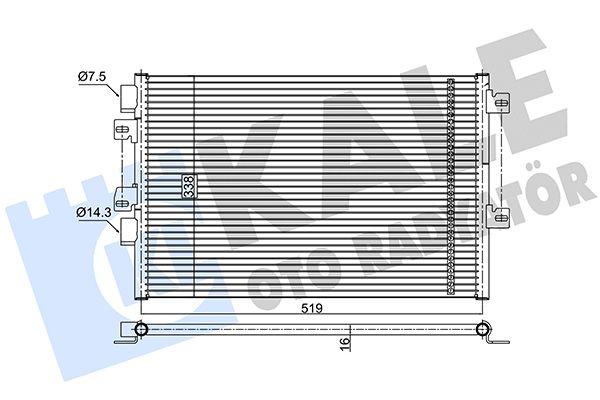 KALE 389200 Klima Radyatörü