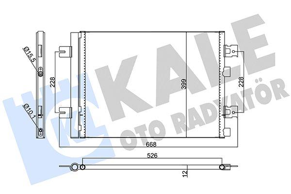 KALE 389300 Klima Radyatörü