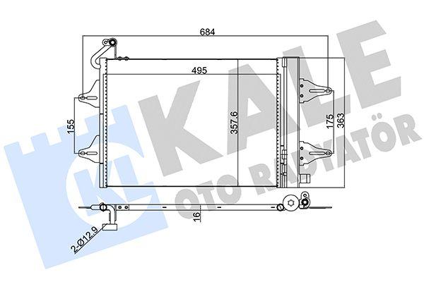 KALE 390700 Klima Radyatörü
