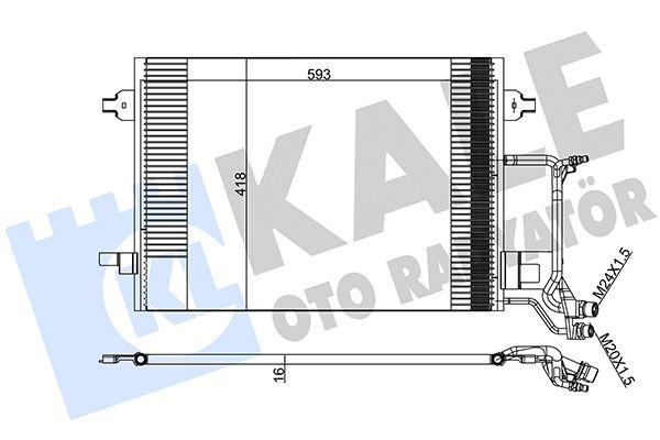 KALE 390800 Klima Radyatörü
