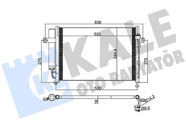 KALE 391700 Klima Radyatörü