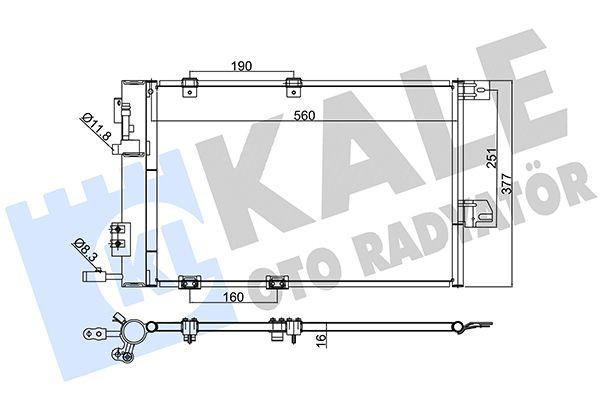 KALE 393300 Klima Radyatörü