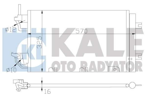 KALE 393500 Klima Radyatörü