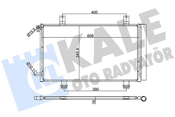 KALE 393900 Klima Radyatörü