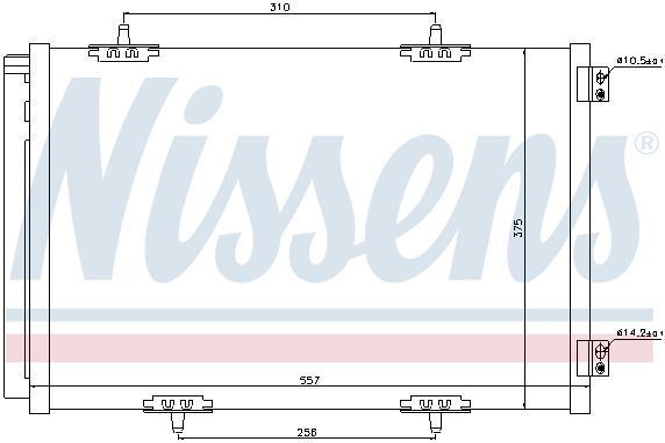 NISSENS 940055 Klima Radyatörü