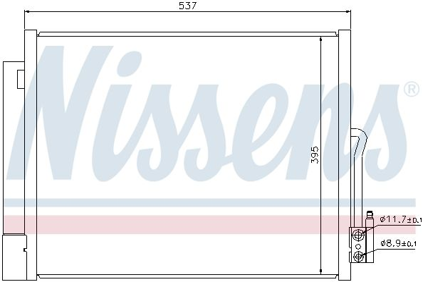 NISSENS 940156 Klima Radyatörü