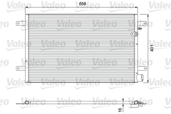 VALEO 814004 Klima Radyatörü