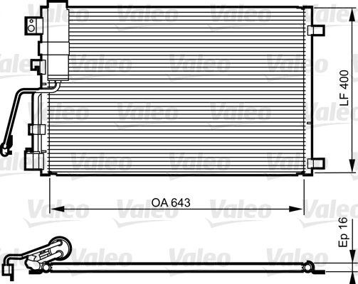 VALEO 814009 Klima Radyatörü