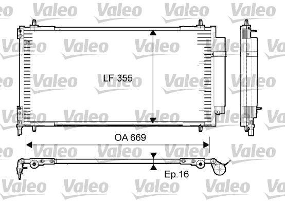 VALEO 814065 Klima Radyatörü