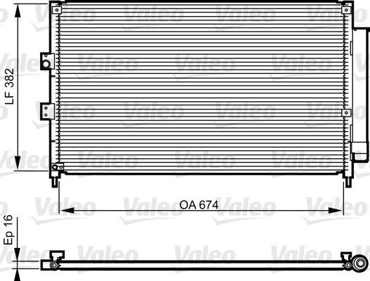 VALEO 814217 Klima Radyatörü