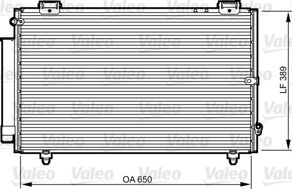 VALEO 814238 Klima Radyatörü
