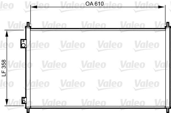 VALEO 814243 Klima Radyatörü