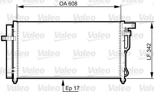 VALEO 814350 Klima Radyatörü