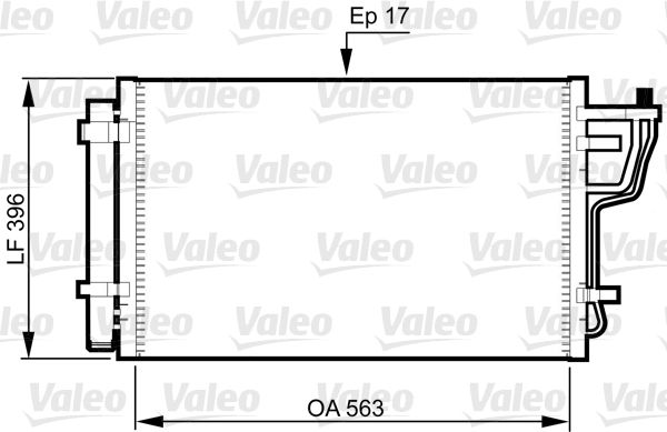 VALEO 814351 Klima Radyatörü