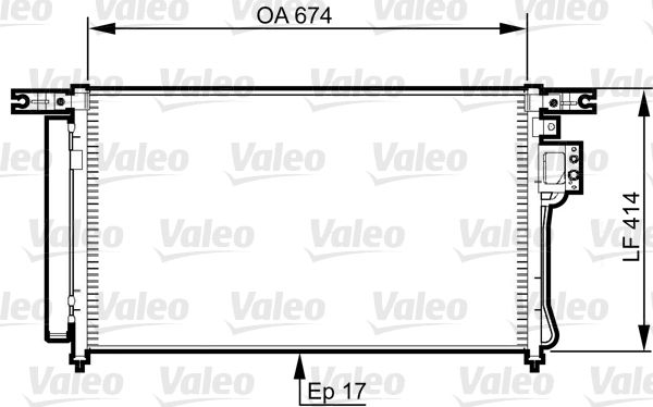 VALEO 814353 Klima Radyatörü