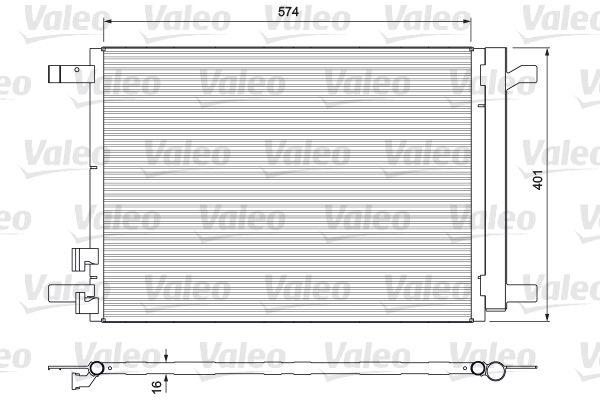 VALEO 814375 Klima Radyatörü