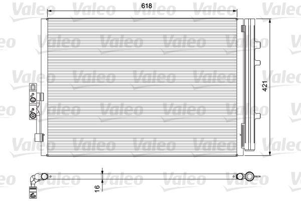 VALEO 814387 Klima Radyatörü
