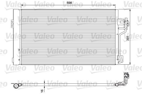 VALEO 814391 Klima Radyatörü