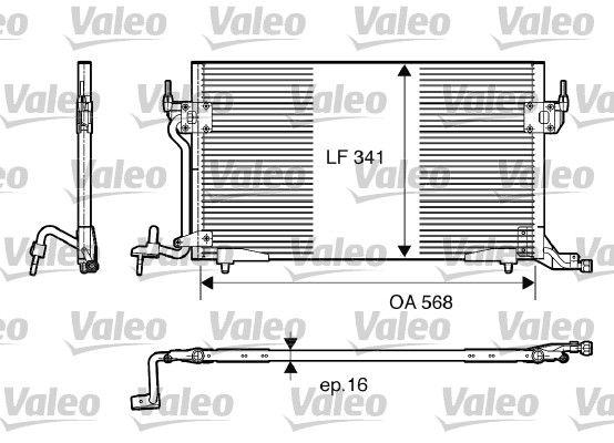 VALEO 817230 Klima Radyatörü