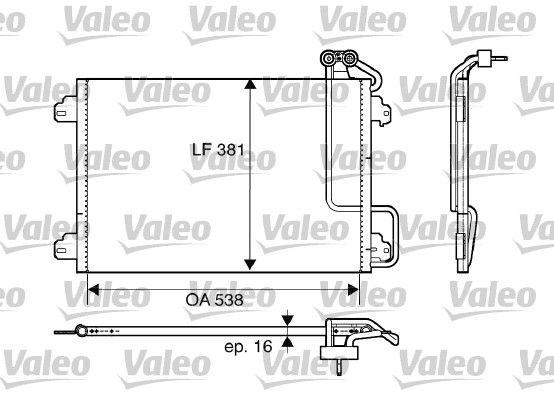 VALEO 817509 Klima Radyatörü